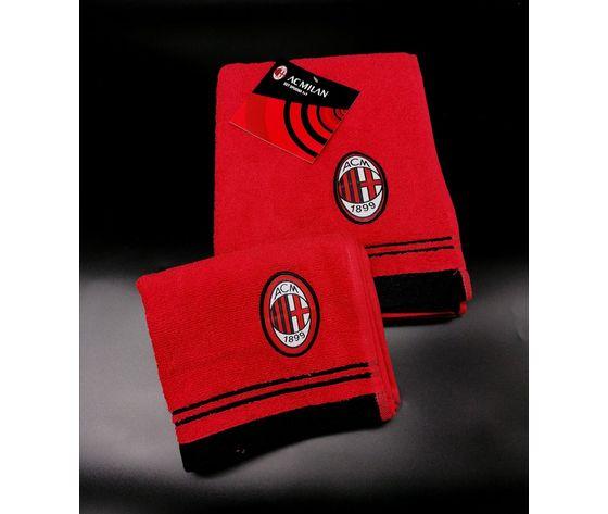 Asciugamano + Ospite con stemma Milan