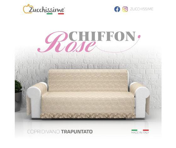Copridivano Zucchissime  Art.Rose Chiffon