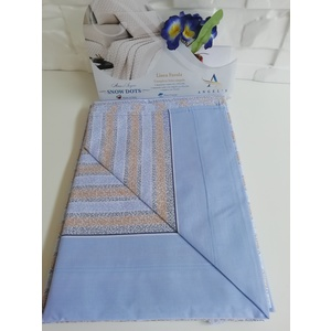 Completo letto cotone singolo celeste