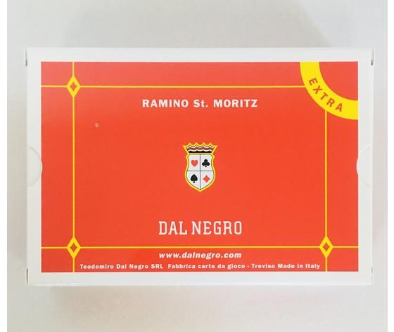 CARTE DA GIOCO RAMINO DAL NEGRO 2 MAZZI - ST.MORITZ EXTRA PLASTIFICATE