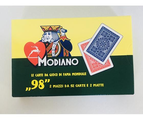 """CARTE DA GIOCO MODIANO """"98"""" 2 MAZZI - RAMINO"""