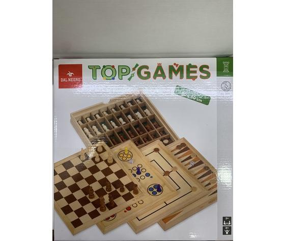 TOP GAMES Dal Negro: SCACCHI, DAMA, TRIA BACKGAMMON, LUDO.