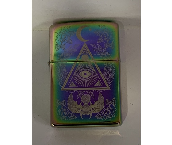 ACCENDINO ZIPPO EYE OF PROVIDENCE. LIMITED EDITION.  DESIGN MADE IN USA
