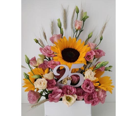 Composizione floreale di buon compleanno di jessyjama