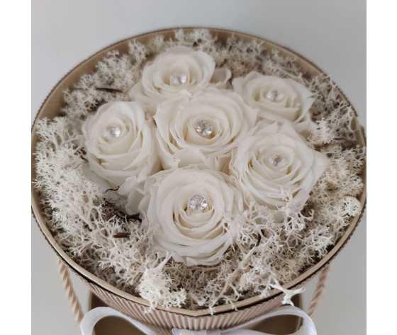 Diamante rose bianche di jessyjama2