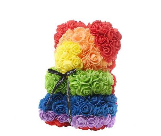 Orso di rose arcobaleno jessyjama 2