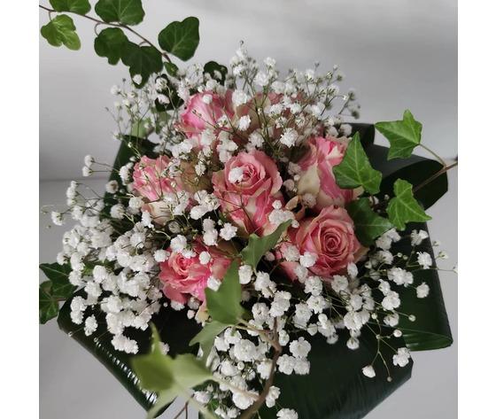 Bouquet con vaso di cristallo di jessyjama 1