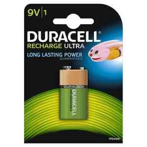 Pile Duracell Ricaricabili Transistor 9V