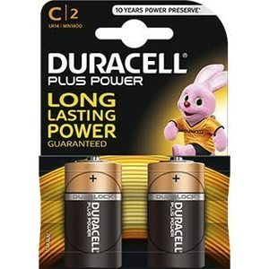 Pile Duracell Plus Power 1/2Torcia C