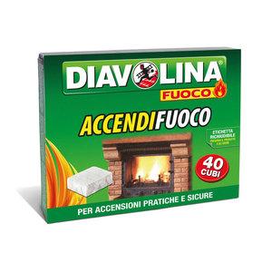 Accendifuoco in cubi Diavolina