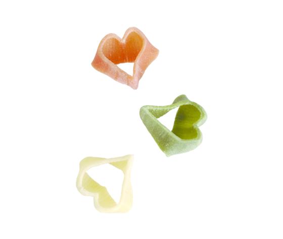10   cuoricini tricolori