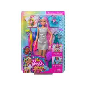 Barbie Bambola Capelli Fantasia a Tema Unicorni e Sirene