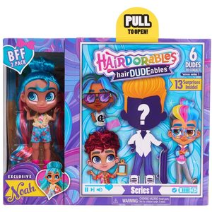 Bambola  Hairdorables Best Friends Forever Pack, 1 Doll e 1 Boy