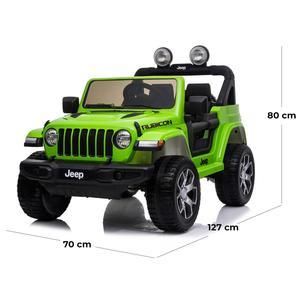 Jeep ® Wrangler Rubicon 2 Sedili 12 Volt Colore Verdecon Telecomando 2.4 GHz