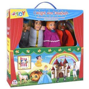 Set teatrino con 4 marionette