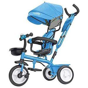 Triciclo in metallo  5 in 1 con maniglione Azzurro