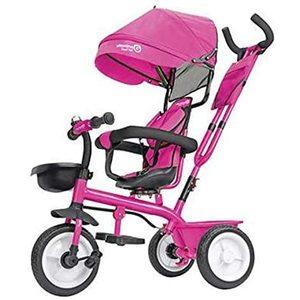 Triciclo in metallo 5 in 1 con maniglione Rosa