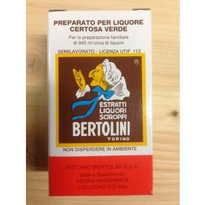 Estratto liquore certosa verde 20ml Bertolini
