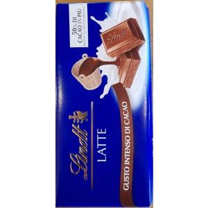 Lindt tavoletta Gamme Bleue Latte 50%+cacao 100g