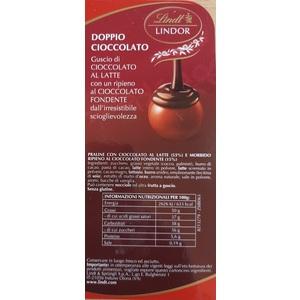 Lindt cioccolatino Boules Lindor Doppio Cioccolato al pz.