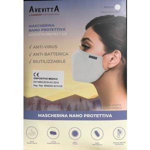 AVEVITTA PROTECT 2.0 MASCHERINA NANO PROTETTIVA GRIGIA