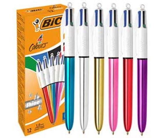 Penna bic 4 colori shine