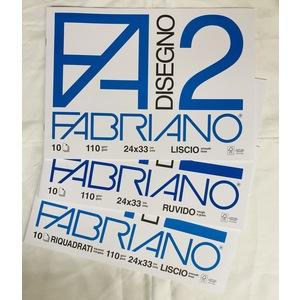 ALBUM DISEGNO FABRIANO F2 10 FG 110 GR 24X33