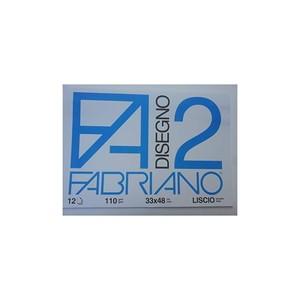 ALBUM DISEGNO FABRIANO F2 12 FG 110 GR FORMATO 33x48