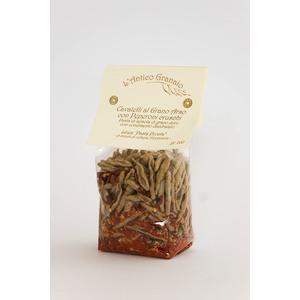 Cavatelli al Grano arso con Peperoni cruschi Pasta pronta