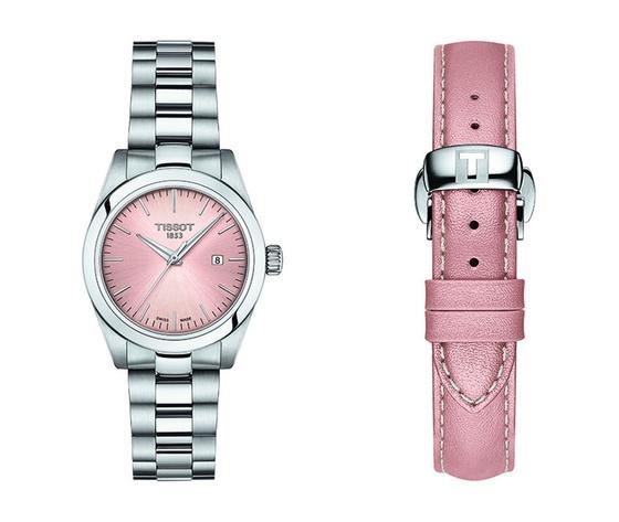 Tissot t my lady damenuhr quarz edelstahl rosa zifferblatt edelstahlband