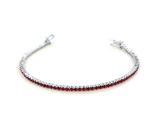 Bracciale tennis in argento e zirconi rossi 18 cm 230 mm cappagli charme 27654 zoom