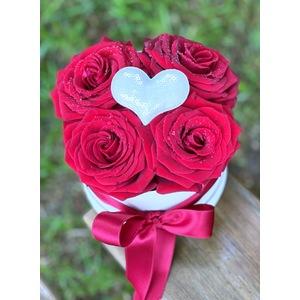 Floral box mini con 4 rose