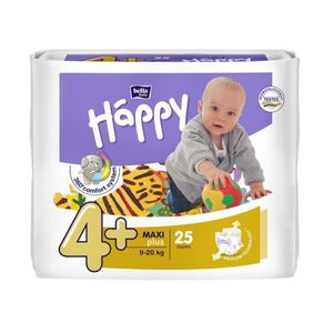 PANNOLINI BELLA BABY HAPPY 4+ MAXI PLUS 25 PEZZI