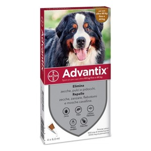 ANTIPARASSITARIO PER CANI ADVANTIX SPOT ON*4PIP 40-60KG