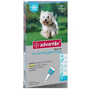 ANTIPARASSITARIO PER CANI ADVANTIX SPOT ON*4PIP 4-10KG