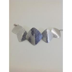 Bracciale Metallo Con Rombi Diamantati