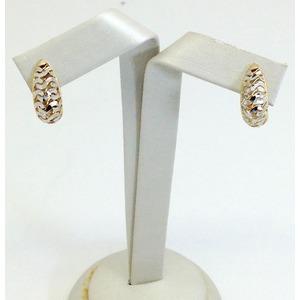 Orecchini In Oro Bianco E Giallo Diamantato