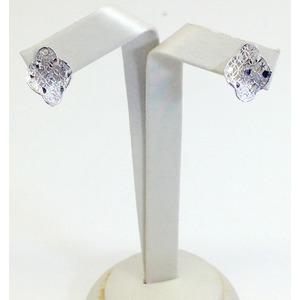 Orecchini In Oro Bianco Diamantato