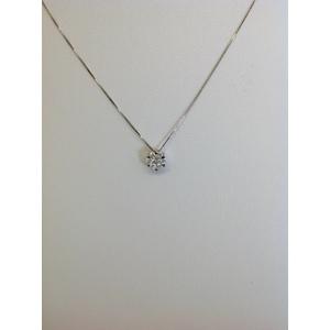 Collana Oro Bianco Con Punto Luce Di Brillanti Carati 0.21 Gvs1