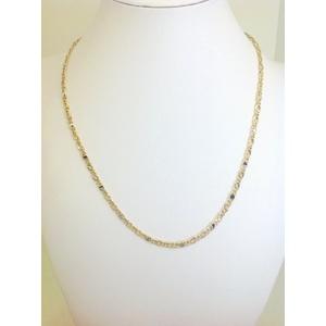 Collana Uomo Oro Giallo E Bianco Grammi 6,1 Misura 50 Cm.