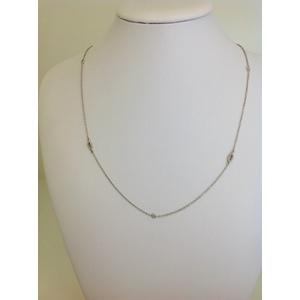Collana Oro Bianco Tipo Collierino Con Zirconi Grammi 3.1