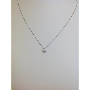 Collana Oro Bianco Punto Luce Zircone Grammi 1.4