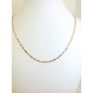 Collana Uomo Oro Giallo E Bianco Grammi 6,7 Misura 50 Cm.
