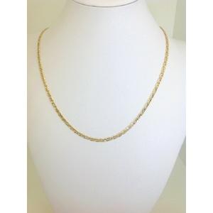 Collana Uomo Oro Giallo Maglia Piatta Grammi 6,3 Misura 50 Cm.