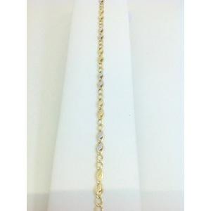 Bracciale Uomo Oro Bianco E Giallo Grammi 2,1