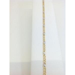 Bracciale Uomo Oro Bianco E Giallo Grammi 3,2