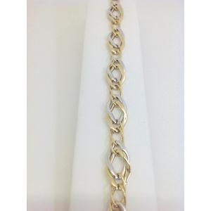 Bracciale Donna Oro Bianco E Giallo Grammi 6,5