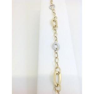Bracciale Donna Oro Bianco E Giallo Grammi 2,5