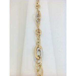 Bracciale Donna Oro Bianco E Giallo Grammi 6,2