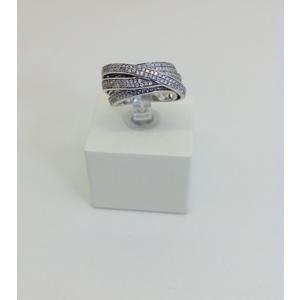 Anello Argento Con Zirconi Tipo Fascia Misura 13Cm